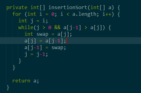 insertionSort